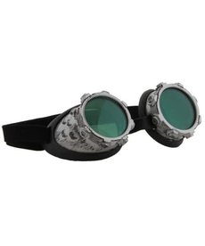 elope Steamworks CyberSteam Silver/Green Goggles