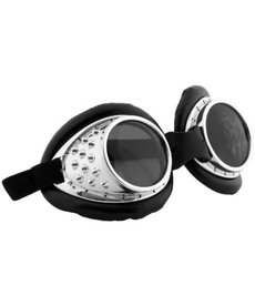 elope Steamworks Radioactive Aviator Silver/Black Goggles