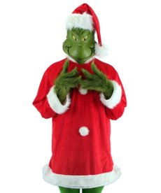Adult Deluxe Dr. Seuss The Grinch Santa Costume with Mask