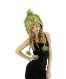elope Dr. Seuss The Grinch Plush Hoodie Hat