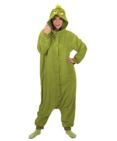 Adult Dr. Seuss The Grinch Christmas Kigurumi Onesie