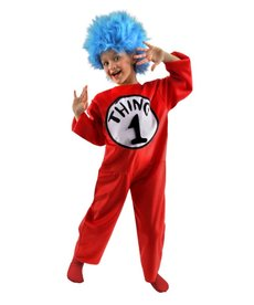 Dr. Seuss Cat in the Hat Thing 1&2 Deluxe Costume Kids