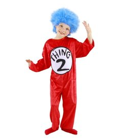 elope Dr. Seuss Cat in the Hat Thing 1&2 Costume Kids: XS (2T-4T)