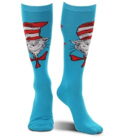 elope Dr. Seuss Cat in the Hat Paws Knee High Costume Socks: Adult