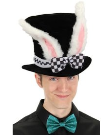 elope elope Alice in Wonderland White Rabbit Topper Plush Hat