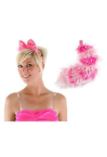 elope Disney Alice in Wonderland Classic Cheshire Cat Ears Headband & Tail Kit