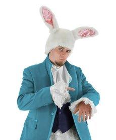elope Disney Alice in Wonderland Tim Burton White Rabbit Plush Hat