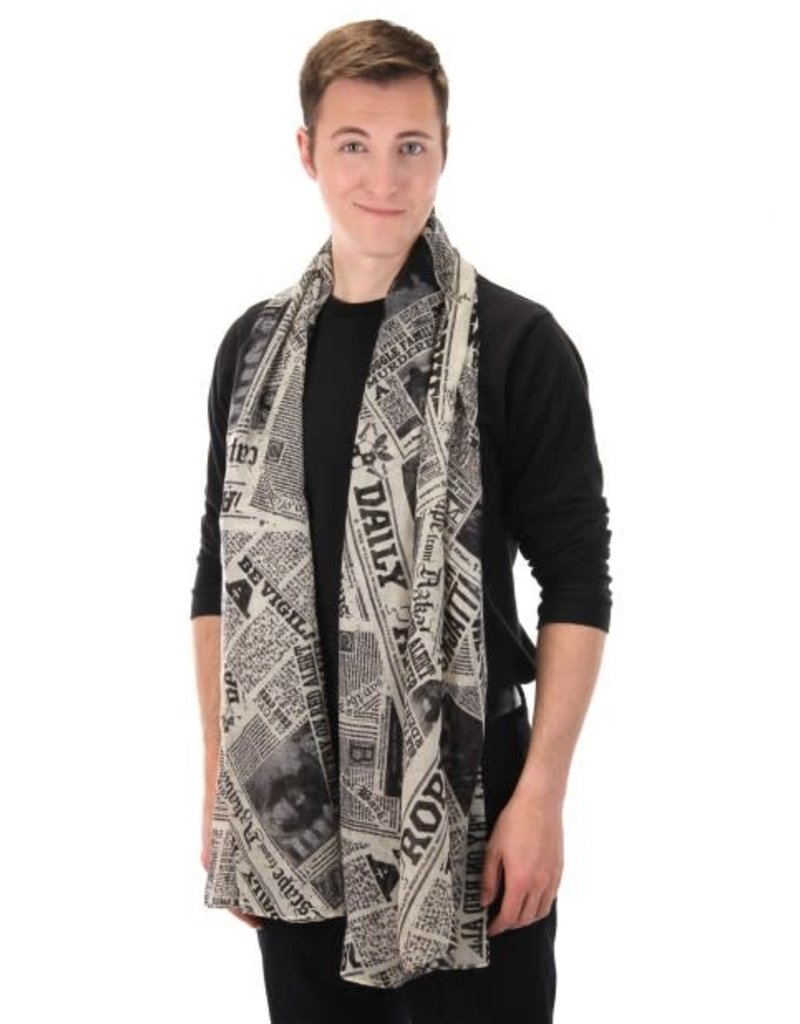 Harry Potter Daily Prophet Newspaper Print Lightweight Scarf