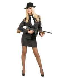 Women's Plus Size Gangster Mole Costume