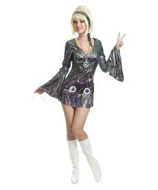 Women's Disco Diva Psychedelic Swirl Costume