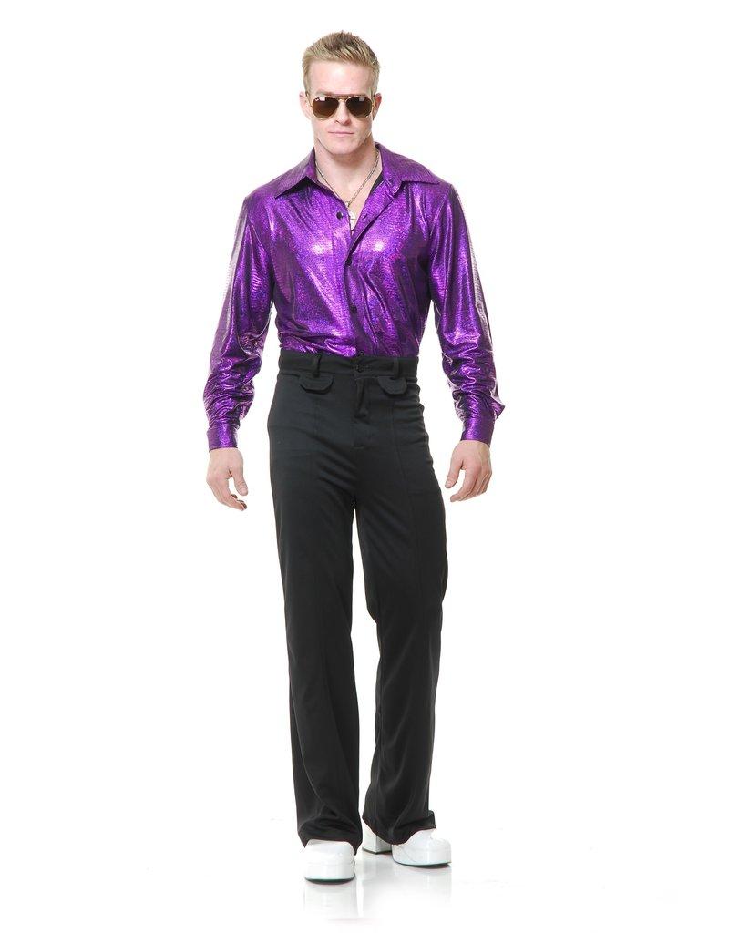 Men's Crocodile Purple Disco Shirt