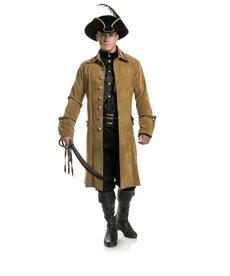 Men's Buccaneer Pirate Premium Suede Jacket