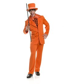 Men's Orange Funny Tuxedo Costume