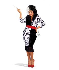 Dream Girl Women's Plus Size Dalmatian Diva Costume