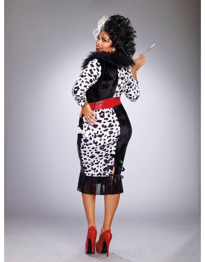 Dream Girl Women's Plus Size Dalmatian Diva Costume