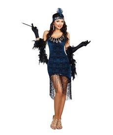 Dream Girl Women's Downtown Doll Flapper Dress