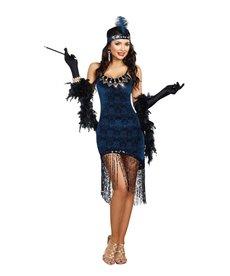 Dream Girl Women's Downtown Doll Flapper Dress