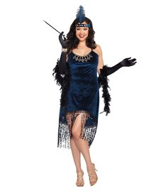 Dream Girl Women's Plus Size Downtown Doll Flapper Dress