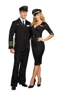 Dream Girl Women's Flight Captain Costume