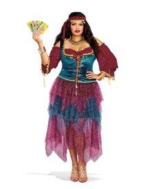 Dream Girl Women's Plus Size Fortune Teller Costume