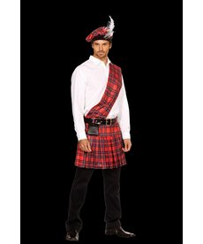 "Dream Girl Men's ""Hot Scottie"" Scottish Kilt Costume"