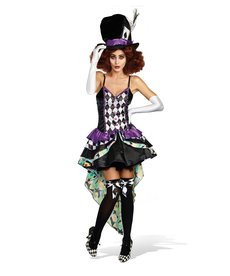 Dream Girl Women's Hatter Madness (Raving Mad) Costume