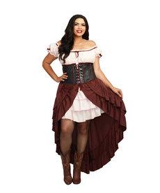 Dream Girl Women's Plus Size Saloon Gal Costume