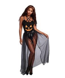 Dream Girl Adult Sheer-Tie Front Black Skirt