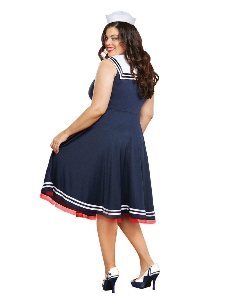 Dream Girl Women's Plus Size All Aboard Costume