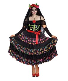 Dream Girl Women's Plus Size Lady of the Dead Costume