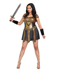 Dream Girl Women's Plus Size Deadly Warrior Costume
