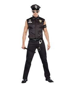 Dream Girl Men's Dirty Cop: Officer Ed Banger Costume