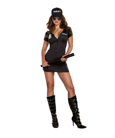 Dream Girl Women's S.W.A.T. Police Woman Black Costume