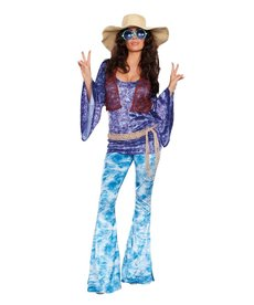 Dream Girl Women's Wild At Woodstock Costume