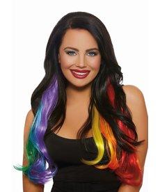 Dream Girl Hair Extensions: Rainbow