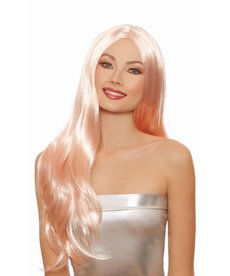 Dream Girl Long Straight Layered Rose Gold Wig