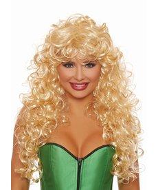 Dream Girl Long Big Curly Blonde Wig