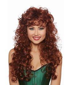 Dream Girl Long Big Curly Auburn Wig