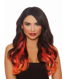 Dream Girl Hair Extensions: Burgundy/Red/Orange