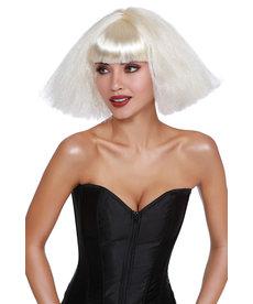 Dream Girl Crimped Wedge Bob Platinum Blonde Wig