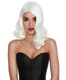 Dream Girl Hollywood Glamour Platinum Blonde Wig
