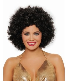 Dream Girl Unisex Afro Black Wig