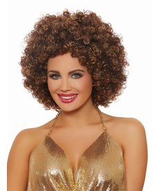 Dream Girl Unisex Afro Brown Highlighted Wig
