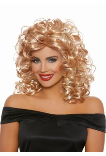 Dream Girl 50's Sandy Wig: Blonde/Honey Brown