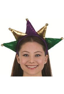 Mardi Gras Crown Headband w/ Bells