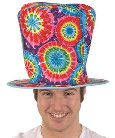 Tall Tie Dye Top Hat