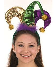Mini Metallic Mardi Gras Jester Headband