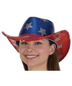 Sequin Patriotic Cowboy Hat