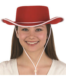 Felt Cowboy Hat: Red