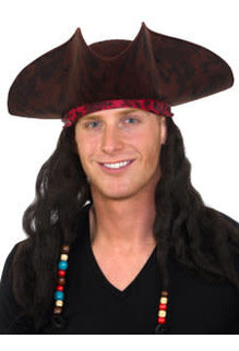 Caribbean Pirate Hat w/ Dreads